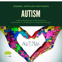 journal articles for points autism